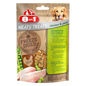 (6,58 EUR/100g) 8in1 Meaty Treats Huhn & Erbsen 50 g