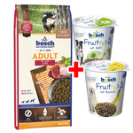 Bosch Adult Lamm & Reis 15 kg + 2x 200 g Fruitees Snacks gratis