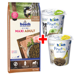 Bosch Maxi Adult 15 kg + 2x 200 g Fruitees Snacks gratis