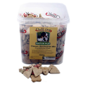 (4,44 EUR/kg) Classic Dog Backwaren-Mix im Eimer 1,8 kg
