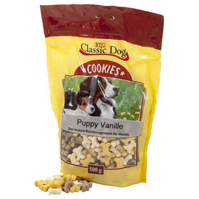 (3,98 EUR/kg) Classic Dog Cookies Puppy Vanille 500 g