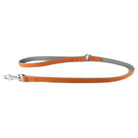 Das Lederband Hundeleine New York orange/stone