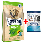 Happy Dog NaturCroq Lamm & Reis 4 kg + Fitness Snack 100 g
