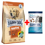 Happy Dog NaturCroq Rind & Reis 4 kg + Fitness Snack 100 g