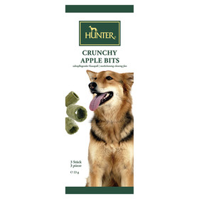 (3,87 EUR/100g) Hunter Hundesnack Crunchy Apple Bits 23 g