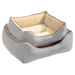 Hunter Hundesofa White Dots grau