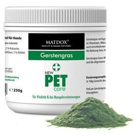 (51,16 EUR/kg) MATDOX New PET care Gerstengras 250 g
