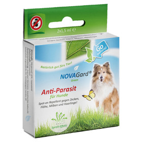 (429,67 EUR/100ml) NovaGard Green Spot-On für Hunde 2x1,5 ml