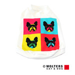Wolters Hunde T-Shirt Pop-Art French Bully weiß/bunt
