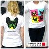 Wolters Menschen T-Shirt Pop-Art French Bully weiß/bunt