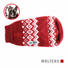 Wolters Norweger Pullover für Mops & Co. rot/weiß
