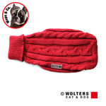 Wolters Zopf-Strickpullover für Mops & Co. rot